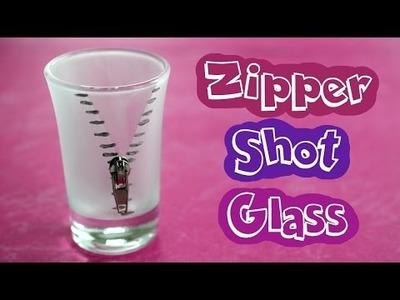 DIY Zipper Shot Glass. Easy Handmade Gift