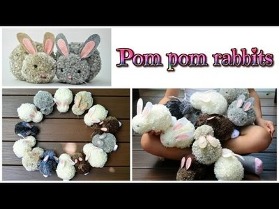 Easy crafts: pom pom rabbits - stuffed bunnies DIY - Isa ❤️