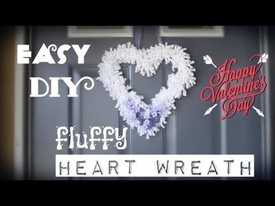 Easy DIY fluffy Heart Wreath