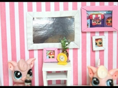 EASY LPS DIY How to make miniature picture frames