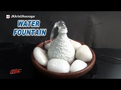 Easy Table Top Waterfall. Fountain from Waste bottle | DIY How to make | JK Arts 884