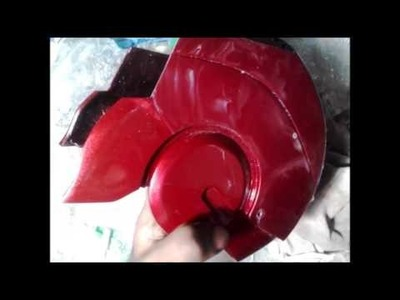 How do you make a Ironman Helmet DIY Papercraft Part 16