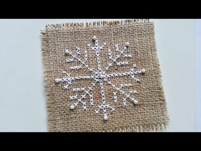 How To Create A Cross Stitched Snowflake - DIY Crafts Tutorial - Guidecentral