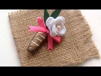 How To Create A Rustic Flower Brooch - DIY Crafts Tutorial - Guidecentral