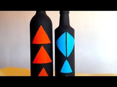 How To Create Beautiful Decorative Painted Bottles - DIY Crafts Tutorial - Guidecentral