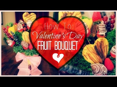 HOW TO: DIY VALENTINE'S DAY FRUIT BOUQUET   GIFT IDEA   Somers In Alaska Vlogs