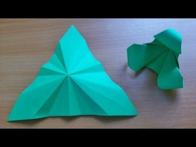 How To Fold Equilateral Triangle From Square For Paper Crafts. DIY