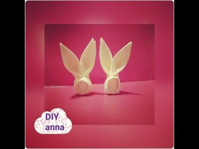 How to make a bunny out of a napkin DIY decoration ideas tutorial