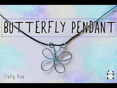 How to make a butterfly pendant  (Making costume jewelry| DIY|Crafts)
