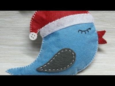 How To Make A Christmas Felt Bird Ornament - DIY Crafts Tutorial - Guidecentral