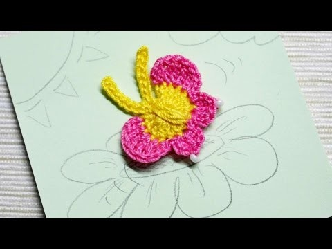 How To Make A Lovely Crocheted Butterfly Applique - DIY Crafts Tutorial - Guidecentral