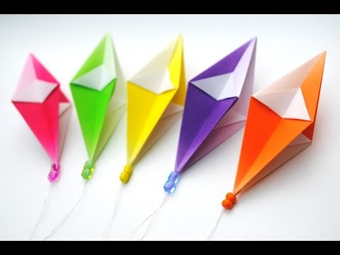 How To Make A Origami Paper Diamond Easy DIY Simple Tutorial Star