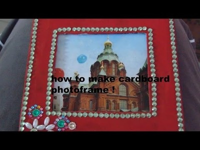 How to make cardboard photo frame -easy DIY! (room.home decor)