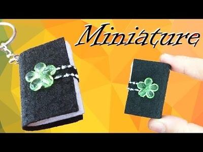 How to make Miniature Notebook - DIY Mini Felt Notebooks ( NO SEW sew )