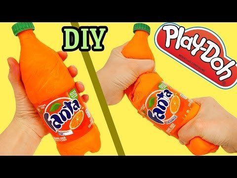 How to Make Play Doh Fanta Soda Bottle DIY