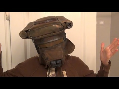 How to Part 1 make Princess Leia Bounty Boushh Hunter Helmet - DIY Starwars Costume
