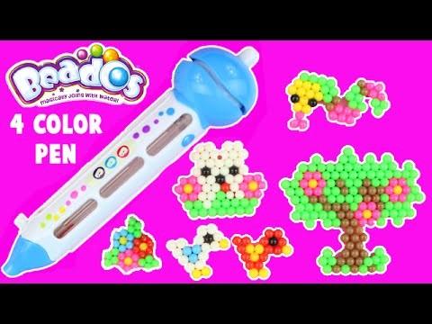 NEW Beados 4 Color Pen DIY Craft Set with Neon Beados Unboxing