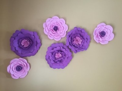 Paper Flower tutorial DIY