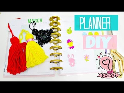Planner DIY Tassel and Clear Dashboard!