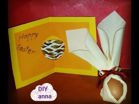 Pop up easter card DIY paper craft ideas tutorial