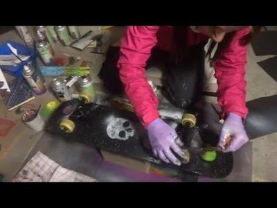 Street Art Spray Paint DIY Skateboard Fun
