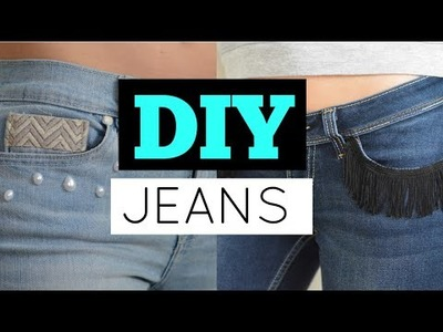 Ways to DIY Your Old Jeans (No Sew DIY Jeans Tutorial) | Nelle Creations