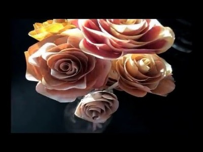 Woodworking - Wooden roses tutorial.  Valentines day DIY idea.