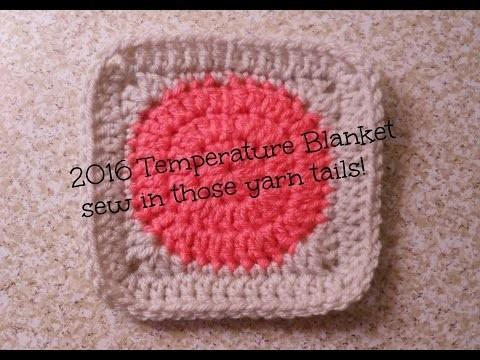 2016 Temperature Blanket - Sew in Tails   Allison Rae Crochet