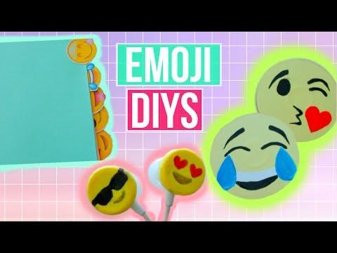 4 Emoji DIY Projects! | DIY Earphones, School Supplies, Room Decor & More