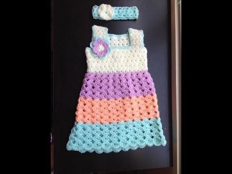 Baby dress - standard bodice crochet tutorial in Tamil.English
