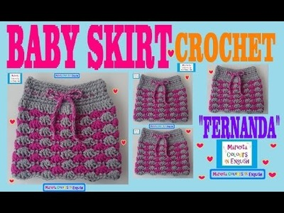 "Baby Skirt ""Fernanda"" in Crochet Free Pattern by Maricita Colours in English"