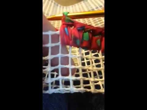 Crochet edge for Locker Hook Rug