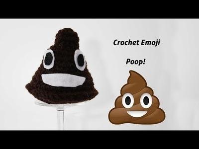 Crochet Emoji poop tutorial and Free Pattern!!