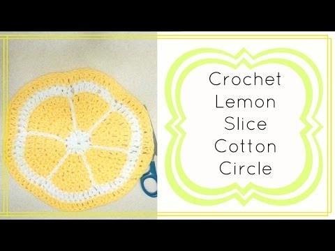 Crochet Lemon Slice Circle