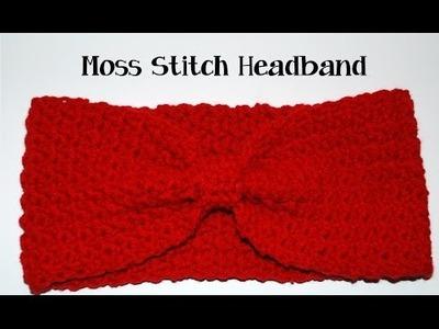 Crochet Moss Stitch Headband Tutorial