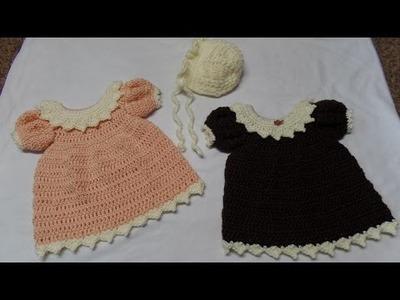#Crochet Newborn Dress and Bonnet Part 1 Dress #TUTORIAL