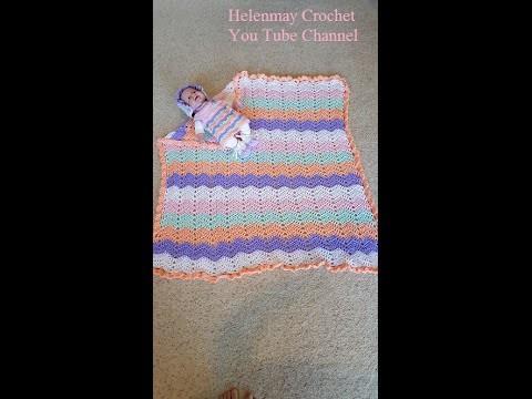 Crochet Quick and Easy Beginner Rainbow Ripple Dreams Baby Blanket DIY Tutorial