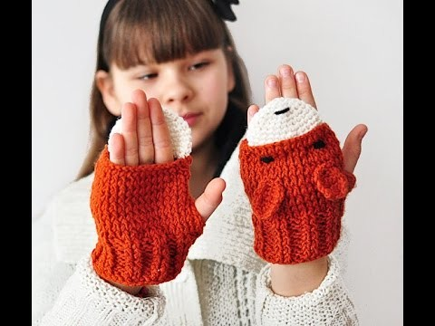 Crochet Tutorial - How to crochet Baby Mittens and Fingerless Gloves - Easy for beginners