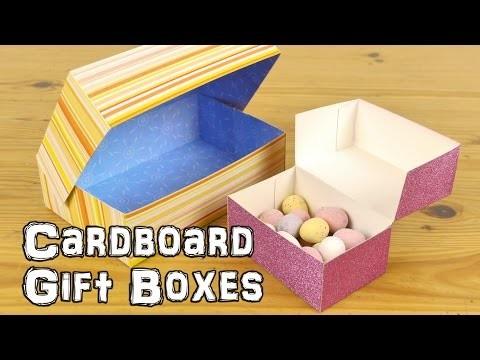 DIY Cardboard Gift Boxes
