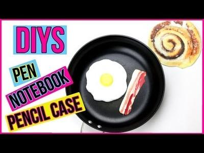 DIY Crafts: 3 Fun DIY Projects - Notebook, Pen, Pencil Case (Weird DIYs To Try) Fried Egg & Bacon