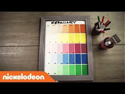 DIY Crafts | TeenNick Paint Color Calendar | Nick