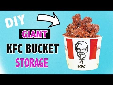 DIY GIANT KFC CHICKEN STORAGE BUCKET