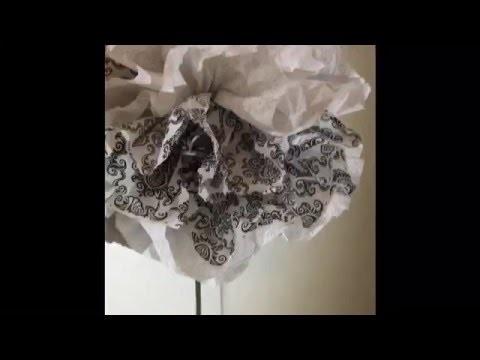 DIY: Napkin flower decoration.Wedding arrangement