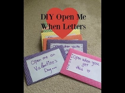 DIY Open Me When Envelopes LDR or Valentines Idea