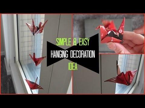 DIY Room Decor | Swan Origami Ceiling Decorations