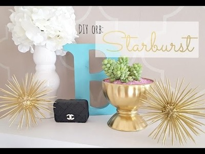 DIY Starburst Orb - Gold Accent Decor !