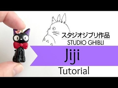 DIY Studio Ghibli Jiji Cat Charm |Polymer Clay| Tutorial [COLLAB] w. BerryWhimsy