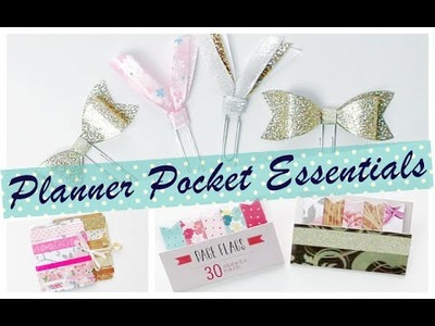 DIY TUTORIAL: Planner Pocket Essentials | Paperclips, Washi Tape Sample Cards and Page Flags