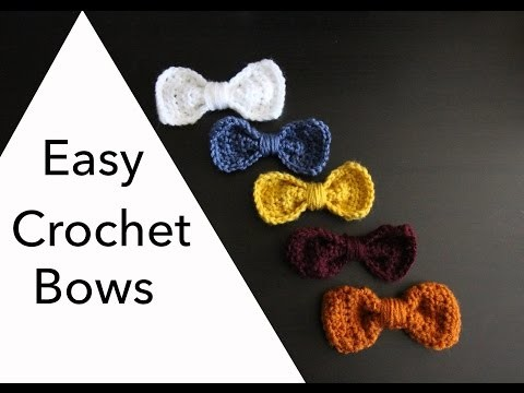 Easy 10 Minute Crochet Bows | Sewrella