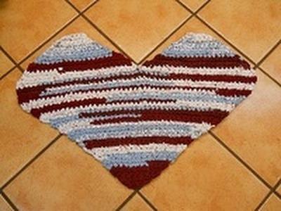 HEART Crochet Rag Rug (Part 1)